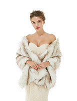 cheap -Sleeveless Shawls Faux Fur Wedding / Party / Evening Women's Wrap With Solid