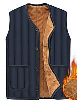 cheap -Men's Hiking Vest Hiking Fleece Vest Fleece Winter Outdoor Thermal Warm Windproof Lightweight Breathable Winter Jacket Trench Coat Top Skiing Fishing Climbing Blue Black / Camping / Hiking / Caving