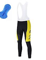 cheap -21Grams Men's Cycling Bib Tights Bike Bib Tights Quick Dry Moisture Wicking Sports Stripes 3D Yellow / Red Mountain Bike MTB Road Bike Cycling Clothing Apparel Bike Wear / Athleisure