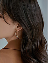 cheap -Women's Drop Earrings Earrings Crossover Vertical / Gold bar Simple Fashion European Cute Earrings Jewelry Gold For Street Daily Holiday Work Bar 1 Pair