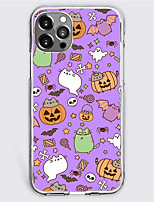 cheap -Halloween Phone Case For Apple iPhone 13 iPhone 12 Pro Max 11 SE 2020 X XR XS Max 8 7 iPhone 13 Pro Max Unique Design Protective Case Shockproof Dustproof Back Cover TPU