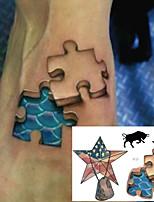cheap -5 PCS Waterproof Temporary Tattoo Sticker Supernatural Fake Tatto Flash Tatoo Tatouage Wrist Foot Hand For Men Girl Women