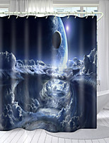 cheap -Star Universe Series Digital Printing Shower Curtain Shower Curtains Hooks Modern Polyester New Design