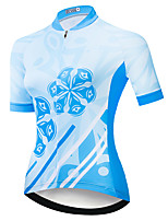 cheap -21Grams Women's Short Sleeve Cycling Jersey Summer Spandex Polyester Blue 3D Funny Bike Top Mountain Bike MTB Road Bike Cycling Quick Dry Moisture Wicking Breathable Sports Clothing Apparel