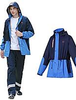 cheap -men's raincoat waterproof cycling jacket adjustable hood & hem, breathable coat, security pockets set