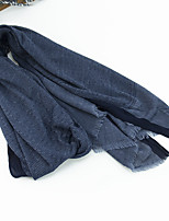 cheap -Men's Rectangle Scarf Casual Black Scarf Solid Colored