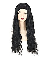 cheap -Headband Wig for Women Black Wig Long Curly Hair Cosplay Daily Wear