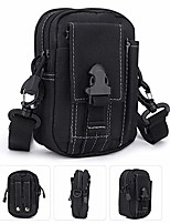cheap -tactical molle pouch bag, multi-purpose poly tool holder, utility gadget belt waist bag with cell phone holster for sports hiking camping