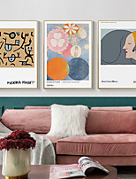 cheap -Wall Art Canvas Prints Painting Artwork Picture Abstract People Home Decoration Dcor Rolled Canvas No Frame Unframed Unstretched