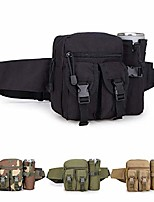 cheap -tactical waist bag military fanny pack adjustable sling bag with water bottle pouch for fishing hunting camping hiking (black)