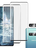 """cheap -(2 + 2 lens protector) galaxy s10 plus screen protector - hd clear tempered glass protector[9h hardness] [fingerprint support][case friendly] [bubble free], for samsung galaxy s10 plus/s10+ (6.4"""")"""