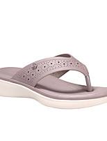 cheap -Women's Sandals Flat Heel Daily PU Solid Colored Purple Pink Dark Blue