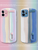 cheap -Phone Case For Apple Back Cover iPhone 12 Pro Max 11 SE 2020 X XR XS Max 8 7 Shockproof Dustproof Lines / Waves PU Leather