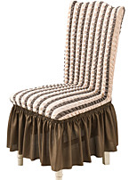 cheap -Stretch Kitchen Chair Cover Slipcover Bubble Lattice for Dinning Party With Skirt Solid High Elasticity Four Seasons Universal Super Soft Fabric Retro Hot Sale