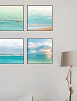 cheap -4 Panels Wall Art Canvas Prints Painting Artwork Picture Landscape Sea Home Decoration Decor Rolled Canvas No Frame Unframed Unstretched