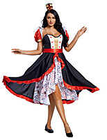 cheap -Movie / TV Theme Costumes Queen Daenerys Targaryen Dress Adults' Women's Movie / TV Theme Costumes Halloween Halloween Halloween Masquerade Festival / Holiday Terylene Black Women's Easy Carnival