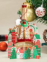 cheap -japan and south korea creative christmas three-dimensional greeting card high-end bronzing amusement park christmas eve blessing card beautiful gift card