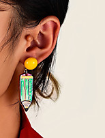 cheap -Women's Drop Earrings Long Petal Statement Vintage Modern Cute Sweet Earrings Jewelry Rainbow For Party Gift Daily Prom Club 2pcs