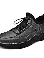 cheap -Men's Sneakers Business Casual Classic Daily Nappa Leather Breathable Gray Black Fall