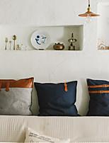 cheap -Cotton Canvas Pillow Cushion Cover American Pastoral Pillow Color-blocking Canvas Sofa Cushion Cover