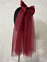 cheap -Two-tier Cute / Sweet Wedding Veil Elbow Veils with Satin Bow Tulle