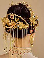 cheap -1 Piece Bride Clothing Headdress Chinese Wedding Retro Hair Accessories Set Photo Studio Palace Costume Toast Clothing Accessories