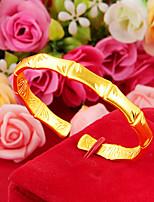 cheap -Women's Bracelet Bangles Cuff Bracelet Wide Bangle Classic Faith Elegant Fashion Punk Korean Sweet Copper Bracelet Jewelry Golden For Wedding Gift Daily Engagement Promise