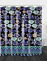 cheap -Flowers Printed Waterproof Fabric Shower Curtain Bathroom Home Decoration Covered Bathtub Curtain Lining Including hooks.