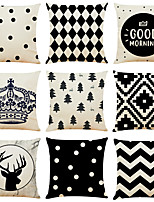 cheap -Geometric Double Side Cushion Cover 9PC Soft Decorative Square Throw Pillow Cover Cushion Case Pillowcase for Bedroom Livingroom Superior Quality Machine Washable Indoor Cushion for Sofa Couch Bed Chair Black