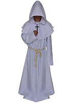 cheap -Pastor Cosplay Costume Adults' Men's Halloween Festival Halloween Festival / Holiday Terylene Blue / White / Black Men's Women's Easy Carnival Costumes Plain