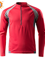 cheap -CAWANFLY Men's Long Sleeve Cycling Jersey Cycling Jacket Winter Red Geometic Bike Tracksuit Winter Jacket Top Thermal Warm Fleece Lining Sports Clothing Apparel / Micro-elastic / Athleisure