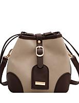 cheap -Women's Bags PU Leather Top Handle Bag Zipper Solid Color Daily Handbags Khaki Orange Black Beige