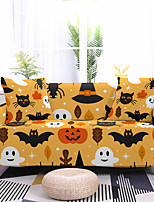cheap -Pumpkin Printed Stretch Sofa Cover Slipcover Elastic Sectional Couch Furniture Protector Fit Armchair Loveseat 4 or 3 seater for Halloween Decoration Holiday Decor