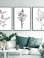 cheap -Wall Art Canvas Prints Painting Artwork Picture Floral Botanical Line Home Decoration Decor Rolled Canvas No Frame Unframed Unstretched