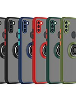 cheap -Phone Case For Samsung Galaxy Back Cover S21 FE 5G S21 S21 Plus S21 Ultra Galaxy A52 Note 20 Ultra A71 A71 5G A51 5G Note 20 Shockproof Dustproof Ring Holder Solid Colored TPU