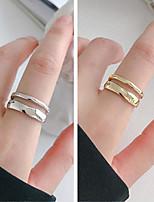 cheap -Men Women Open Ring Classic Silver Gold Alloy Joy Stylish Simple 1pc Adjustable / Women's / Couple's