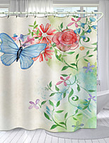 cheap -Simple Cartoon Butterfly Series Digital Printing Shower Curtain Shower Curtains  Hooks Modern Polyester New Design