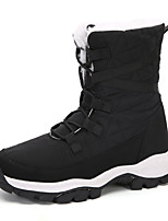 cheap -Women's Boots Flat Heel Round Toe Booties Ankle Boots Daily Outdoor PU Solid Colored Fuchsia White Black / Booties / Ankle Boots