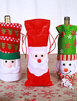 cheap -Christmas Wine Bottle Bag Santa Snowman Li Wine Bottle Set Christmas Decorations Christmas Wine Bag