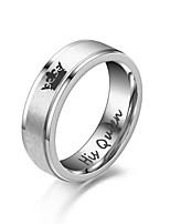 cheap -Ring Silver Black Alloy Crown Fashion Cute 1pc 5 6 7 8 9 / Women's / Men's