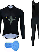 cheap -21Grams Men's Long Sleeve Cycling Jersey with Bib Tights Summer Spandex Polyester Black Funny Animal Bike Clothing Suit 3D Pad Quick Dry Moisture Wicking Breathable Back Pocket Sports Patterned