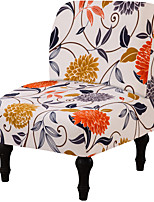 cheap -Armless Chair Slipcover Removable Armless Chair Cover Printed Armless Accent Chair Covers Washable Slipper Chair Slipcovers Furniture Protector Covers for Extra Large Armless Accent Chair(Flower)