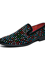 cheap -Men's Loafers & Slip-Ons Business Classic British Daily PU Breathable Black Fall / Sparkling Glitter