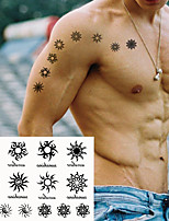 cheap -5PCS Waterproof Temporary Tattoo Sticker Creative Triangle Eyes Sun Star Totem Element Fake Tatto Flash Tatoo for Kids Men Women