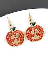 cheap -Women's Hoop Earrings Earrings Geometrical Pumpkin Stylish Simple Cute Earrings Jewelry Light Red For Christmas Street Gift 1 Pair