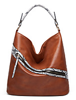 cheap -Women's Bags PU Leather Tote Top Handle Bag Snake Skin Pattern Shopping Daily Wear Green Black Red Brown
