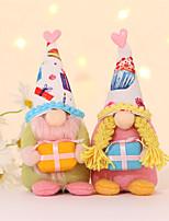 cheap -Christmas Faceless Dwarf Doll Rudolph Doll Valentine's Day Birthday Window Decorations
