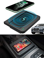 cheap -Car Qi Wireless Phone Charger Pad Charging for Center Console Phone Wireless Charging Pad Mat fit for Audi Q5 SQ5 2021 2020 2019 2018 2017 Accessories Left Rudder