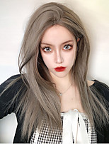 cheap -Synthetic Wig Natural Straight Middle Part Wig Long A1 A2 Synthetic Hair Women's Cosplay Soft Party Gray