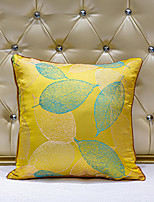 cheap -1 pcs Velvet Synthetic Pillow Cover, Art Deco Leaf Luxury Modern Square Zipper Traditional Classic